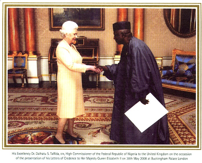 Dr. Tafida Presents his Credentials to the Queen